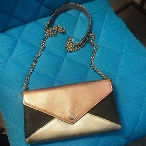 RARE Rebecca Minkoff Rose Gold Wallet on a Chain